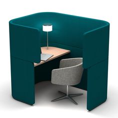Hackney designers PearsonLloyd preview their workstations for office furniture brand Bene at Hackney House