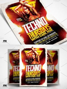 Techno Thursdays Party Template. Summer #abstract #artist