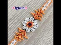 Bead Jewellery, Beaded Jewelry, Beaded Bracelets, Crochet Flower Tutorial, Crochet Flowers, Beading Tutorials, Beading Patterns, Baby Knitting Patterns, Crochet Patterns