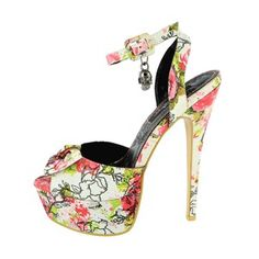 Creepy Rose Super Platform White, $39, now featured on Fab.