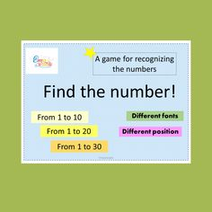 Printable Math Games, Printable Numbers, Math Worksheets, Printables, Kindergarten Math Games, Math Games For Kids, Number Matching, Matching Games, Letter Recognition Games