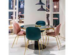 Gubi Velvet Beetle Front Upholstered Chair by GamFratesi - Chaplins