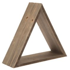 Brown Triangular Wood Wall Shelf  3 of these