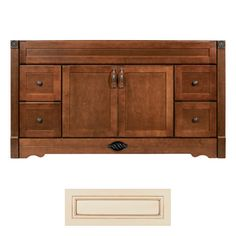 Architectural Bath Remington Vanilla Chocolate Transitional Bathroom Vanity Common 60 In X