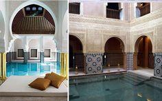 Decoración de spas de estilo árabe