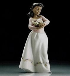 Lladro — Black Legacy Collection — Flower Girl