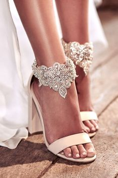 Amazing Anna Campbell 2018 Wedding Dresses ❤️ beach nude comfortable wedding shoes with silver pearl ascent hand beaded embellishment by anna campbell 2018 ❤️ See more: http://www.weddingforward.com/anna-campbell-2018-wedding-dresses/ #weddingforward #wedding #bride #weddingshoes