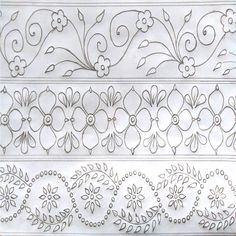 How to draw Nokshi katha ,কাঁথার ডিজাইন Basic Hand Embroidery Stitches, Hand Embroidery Patterns Flowers, Border Embroidery Designs, Leather Working Patterns, Jewelry Design Drawing, Quilting, Boarders, Google Search, Fashion