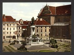Mickiewicz Monument, Warsaw, Poland. 1900. Source: U.S. Library of Congress.