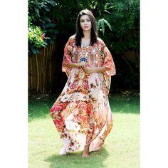 Silk kaftan Silk Kaftan, Two Piece Dress, Designer Collection, Cover Up, Fancy, Wedding, Dresses, Women, Fashion