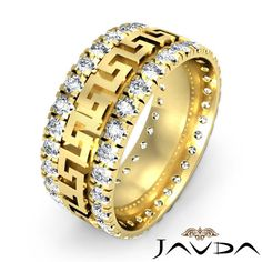 1 85 diamond ring men solid prong wedding band 14k y gold s10 ebay - Wedding Rings On Ebay