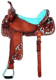 This.Saddle.Is.Awesome | Turquoise & Brown | <3