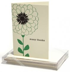 Boxed Notecards - Letterpress - Zinnias - Snow & Graham: Letterpress Stationery, Invitations, Greeting Cards and Calendars