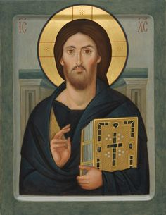 Jesus Christ the Pantocrator of Mt. Sinai - Icons from the Workshop of St. Elisabeth Convent - Handmade - Hand-Painted