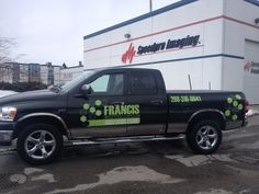 Great new digital print and contour cut graphics installed for Mike of Francis Contracting. Love the colours! #vehiclegraphics #mobileadvertising www.SpeedproDurham.ca