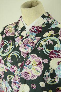 Gray yukata , flower pattern / 消し炭色地 大人華やぐ花文柄 浴衣   #Kimono #Japan  http://www.rakuten.co.jp/aiyama/