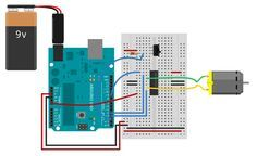 DC Motor Control Using an H-Bridge