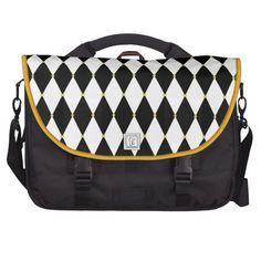 Harlequin Diamond Pattern Laptop Commuter Bag for Mardi Gras
