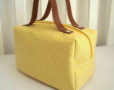 Frasqueira - Mini Chevron Amarelo