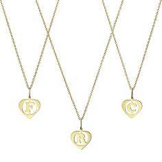 colier inima cu litera din aur 2