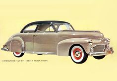 Studebaker Commander Skyway Coupe 1942 | Mad Men Art | Vintage Ad Art Collection
