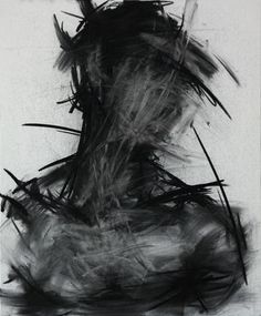 "KwangHo Shin; Drawing, ""[29] untitled charcoal  on canvas"