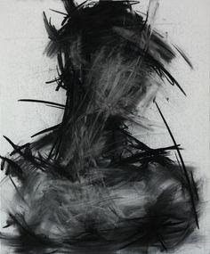 "KwangHo Shin; Drawing, ""[29] untitled charcoal  on canvas"
