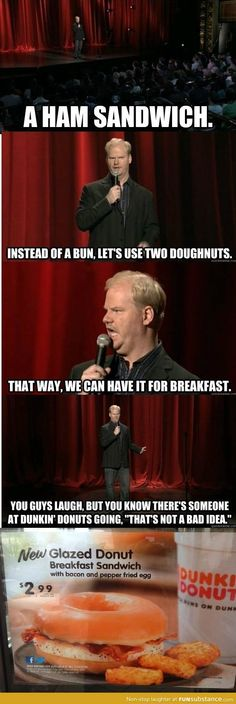 Funny pictures about Jim Gaffigan predicts the future of food. Oh, and cool pics about Jim Gaffigan predicts the future of food. Also, Jim Gaffigan predicts the future of food. The Comedian, Comedian Jokes, Jim Gaffigan, Funny Shit, The Funny, Funny Stuff, Funny Things, Random Stuff, Funniest Things