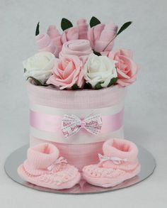 Baby Girl Clothes Flower Bouquet Nappy Cake