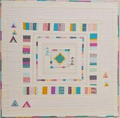 """What a lovely little offbeat """"June Medallion"""" quilt by Beth Vassalo of Plum and June, as featured in her book, 'The Modern Medallion Workbook.'"""