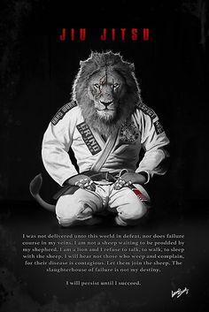 'Kneeling Jiu-Jitsu Lion' Poster by groundshark Jujitsu Bresilien, Jiu Jitsu Quotes, Mma, Jiu Jitsu Training, Lion Poster, Ju Jitsu, Lion Art, Brazilian Jiu Jitsu, Muay Thai