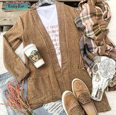 Mocha Brushed Sweater Cardigan – Ruby Rue Jewelry & Accessories