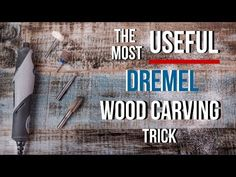 The Most USEFUL Dremel Wood Carving Trick! Carving Knife Set, Dremel Carving, Wood Carving Tools, Wood Carving Designs, Wood Carving Patterns, Wood Carvings, Dremel Tool Projects, Wood Projects, Dremel Ideas