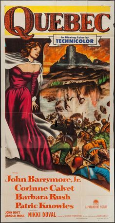 Quebec (Paramount, Three Sheet X Adventure., Corinne - Available at Sunday Internet Movie Poster. John Drew Barrymore, Barbara Rush, Jekyll And Mr Hyde, Internet Movies, Western Movies, Paramount Pictures, Old Movies, Classic Movies, Film Posters