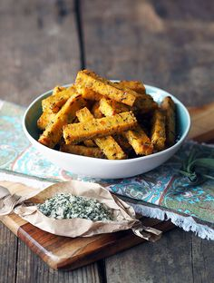 Ricotta & Polenta Chips, baked so they are healthier for you!   www.bellyrumbles.com