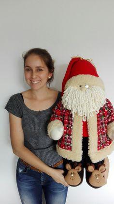 Fabric Dolls, Diy And Crafts, Christmas Decorations, Santa, Xmas, Holiday, Handmade, Holiday Crafts, Christmas Crafts