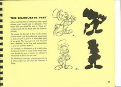 Page #11 | Walt Disney's - Tips on Animation - the Silhouette Test