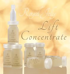 Royal Jelly Lift Concentrate--  skin will feel moisturized and wrinkles will seem to fade! #Skincare #RoyalJelly