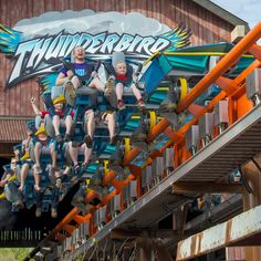 Thunderbird, America's first launched wing coaster, speeds 0-60 mph in 3.5 seconds! This new steel roller coaster includes loops, rolls, twists and turns!