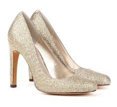 Gorgeous Silver Glitter Heels #heels #silver #glitter