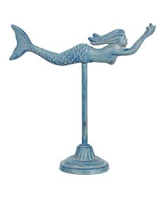 This Iron Mermaid Figurine by Young's is perfect! #zulilyfinds