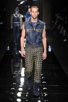#Sleeveless - Versace Men's Fall Winter 2012  Denim = Textures