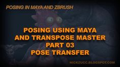 In this last part of the video series, we will take all of our pose information in Maya, transfer it to our transpose mesh, then export that mesh into ZBrush and apply it to our high resolution geometry using transpose master tool.