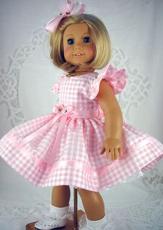 """American Girl dress, American Girl Easter, American Girl Easter dress, Pink doll dress,18 inch doll dress, 18"""" doll clothes. by ADollsFancy"""