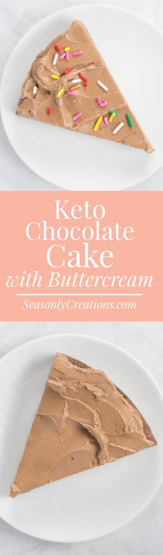 Keto Chocolate Cake with Chocolate Buttercream Frosting {Gluten-Free Recipe} Keto Chocolate Cake, Gluten Free Chocolate, Chocolate Recipes, Easy No Bake Desserts, Low Carb Desserts, Healthy Desserts, Cookie Recipes, Dessert Recipes, Keto Recipes
