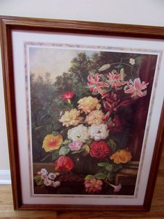 Home Interior By E May 84 Flower arrangement w Lilys & roses | eBay