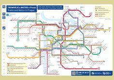 Prague public transport map