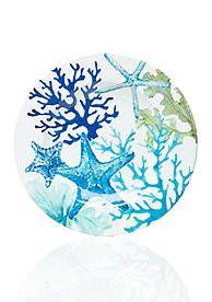Home Accents® Melamine Sea life Coastal Salad Plate
