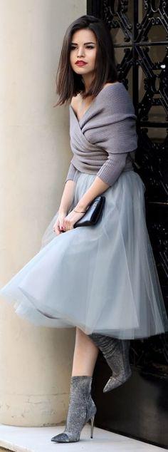 Как носить юбку из тюля