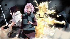 Anime Naruto  Naruto Uzumaki Sakura Haruno Sasuke Uchiha Tapeta